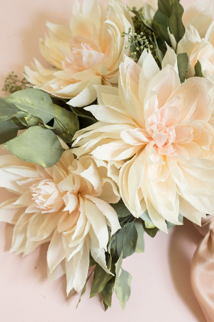 How-To-Make-Paper-Flowers_Appetitepaper.com_Cafe-Au-Lait-Dahlia-Bouquet_09                                                                                                                                                                                 More