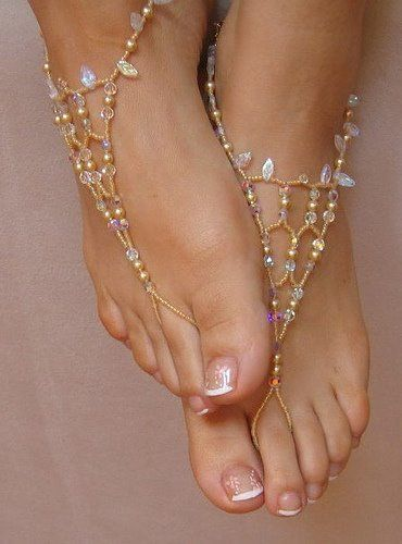foot jewelsFoot Jewelry, Barefoot Sandals, Wedding Shoes, At The Beach, Jewelry Trends, Necklaces, Accessories, Beach Wedding, Feet Jewelry