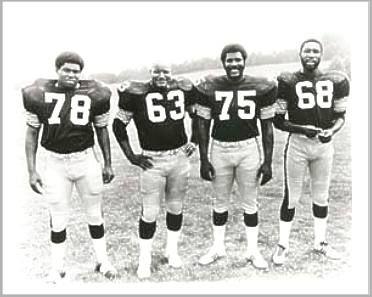 Original STEEL CURTAIN - Dwight White, Ernie Holmes, Joe Greene and L.C. Greenwood (Pittsburgh Steelers)   # Pinterest++ for iPad #