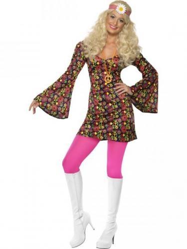 Disfraz de Hippy adulto.  Hippy costume. Disfraces de los 70