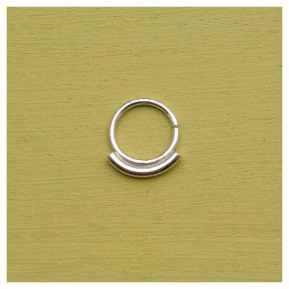 Simplicité Septum anneau  argent Sterling  par AliceRubyStudio