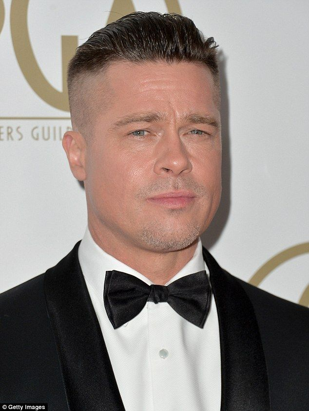 Brad Pitt reveals his new hairstyle is for a movie... as he ...