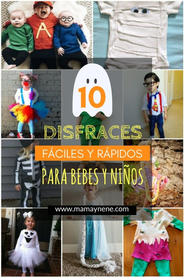 Disfraces rápidos y fáciles para bebés y niños   Mamá&nené - Maternidad y recursos educativos