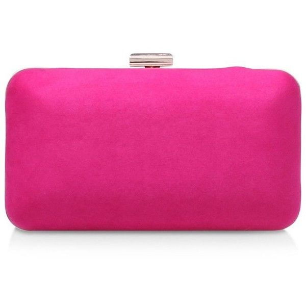 Carvela Pink 'Dori' clutch bag ($71) ❤ liked on Polyvore featuring bags, handbags, clutches, pink clutches, pink purse and pink handbags