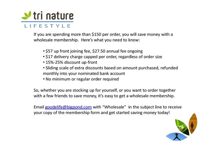 How to get tri nature at #wholesale prices!