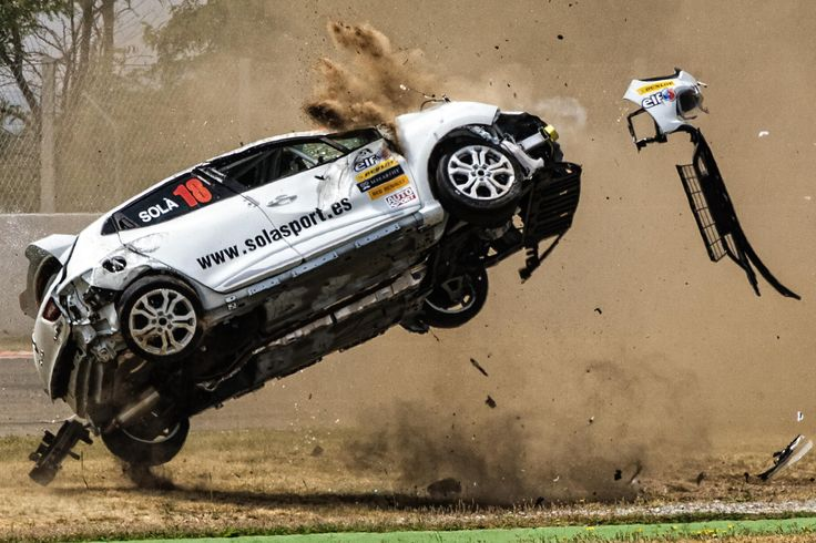 Car accident on the Circuit de Catalunya by Miguel Angel Aguirre on 500px