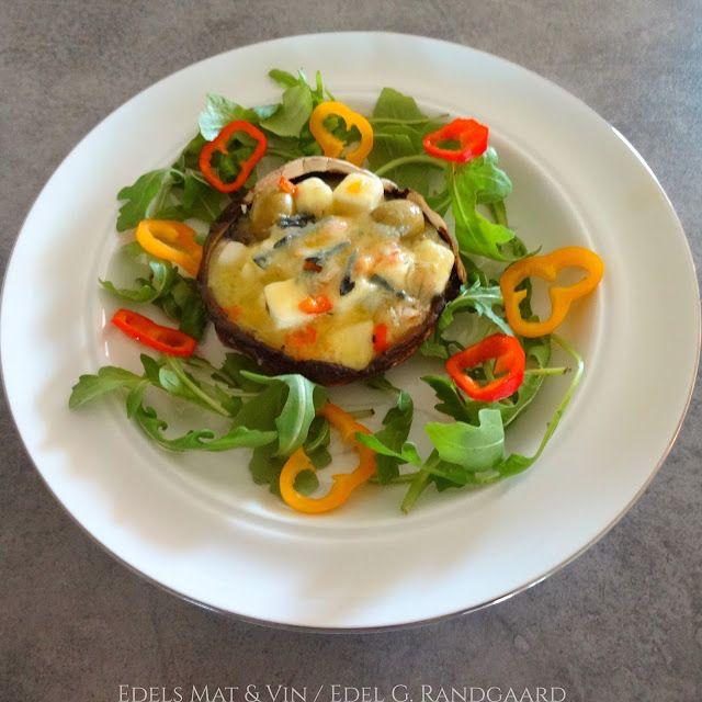 Edels Mat & Vin: Ovnsbakt Portobello med ost 🍄