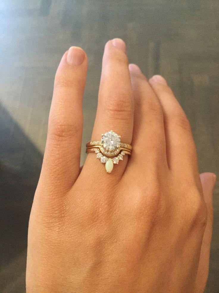 Anna Sheffield Hazeline solitaire - Mini Crescent - Opal marquis tiara ❤️❤️❤️❤️❤️