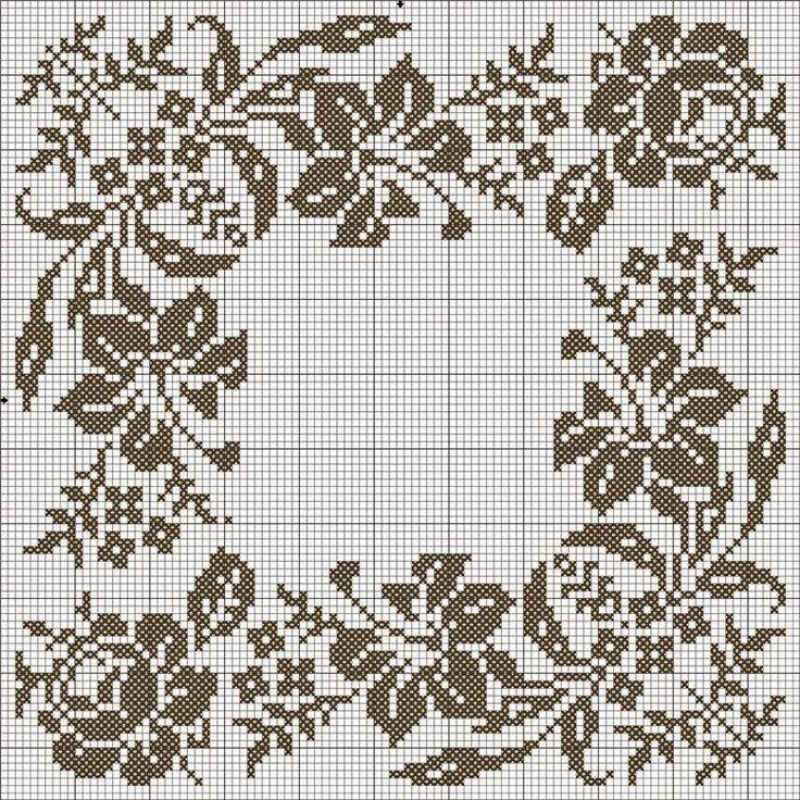 Χειροτεχνήματα: Μονόχρωμα σχέδια για κέντημα / Monochrome cross stitch patterns