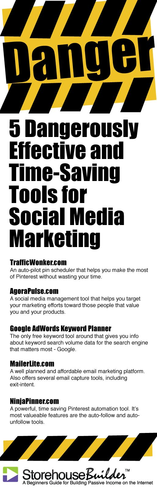 5 Dangerously Effective Tools for Social Media Marketing | Maximize Productivity While Saving Time and Money - http://www.storehousebuilder.com/general/five-dangerously-effective-tools-for-social-media-marketing.php