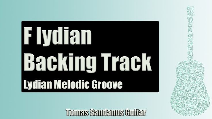 Guitar Backing Track Jam in F lydian mode | Lydian Melodic Groove