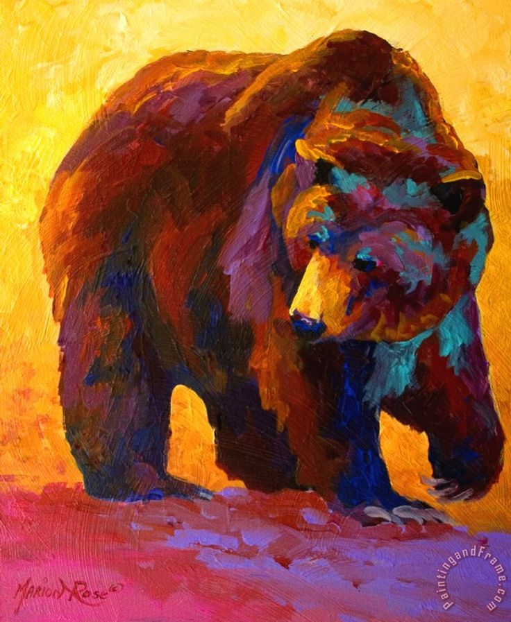 My Fish - Grizzly Bear Canvas Print / Canvas Art by Marion Rose