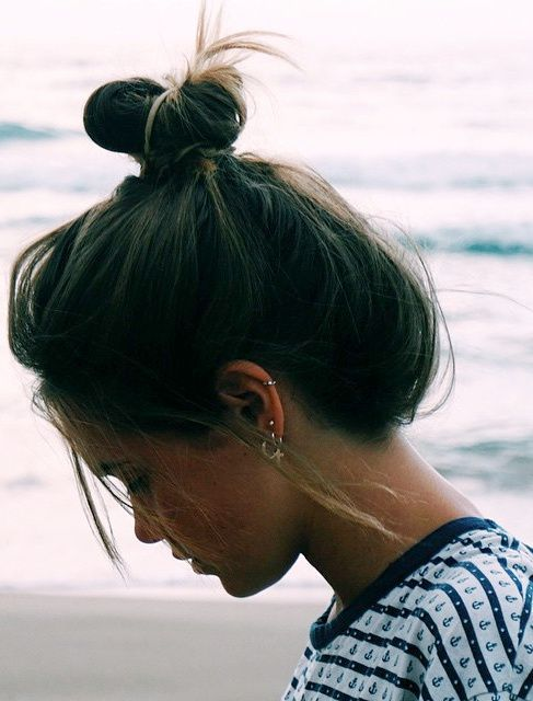 6 Top Knots for EVERY Hair Length | http://www.hercampus.com/beauty/6-top-knots-every-hair-length