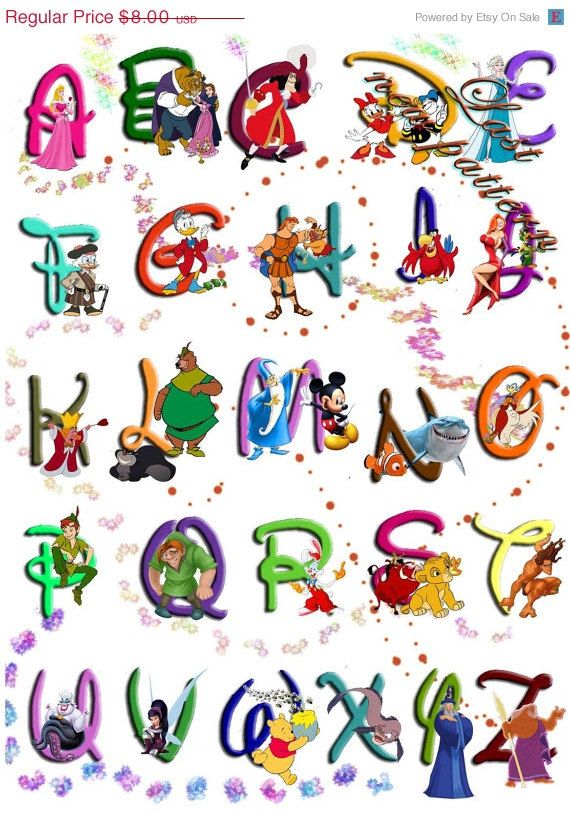 Cartoon Characters Letter Z : Ideas about disney alphabet on pinterest letter