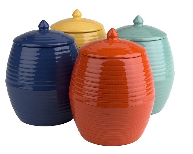 Cookie jars- but I really want one that advertises its contents in big, bold letters.