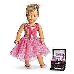 American Girl® Gift Guide: Isabelle's Sparkle Dress & Makeup Set
