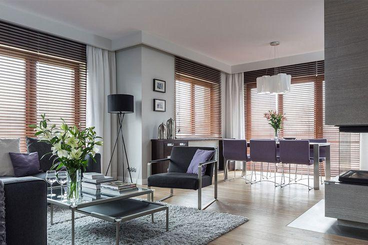 Aranżacja nowoczesnego salonu z jadalnią - Architektura, wnętrza, technologia, design - HomeSquare