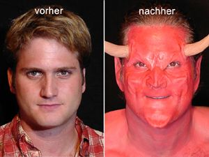 Before and After the creation of the devil.
