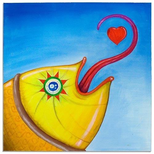 Acrylbild mit fantasievolle Motiv. Original Handarbeit. Signiert von Bülent KILIC in kürze bei E-bay:  http://www.ebay.de/itm/121112894673  www.bulentkilic.com