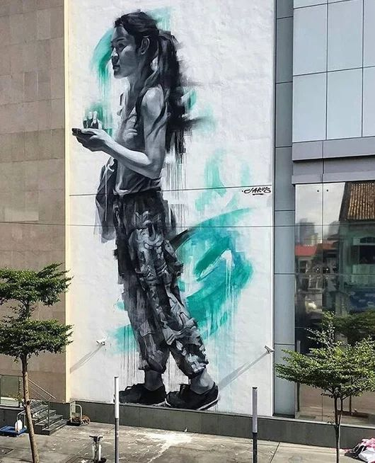 New Street Art by YoungJarus in Penang, Malaysia