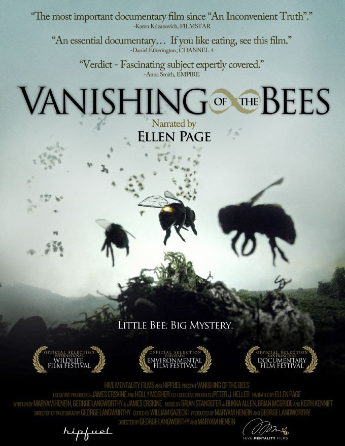 Vanishing Bees, a film documentary that everyone should watch, if we lose our bees we lose a great percentage of our food!!