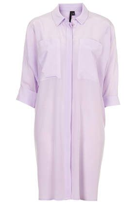 Wide Pocket Shirt Dress by Boutique