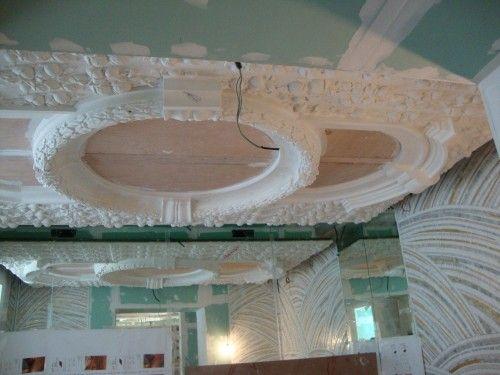 Realizzazioni a soffitto rifinite in gesso Ristorante Biancoro Napoli #beautifull #design #esclusivo www.bragliacontract.com