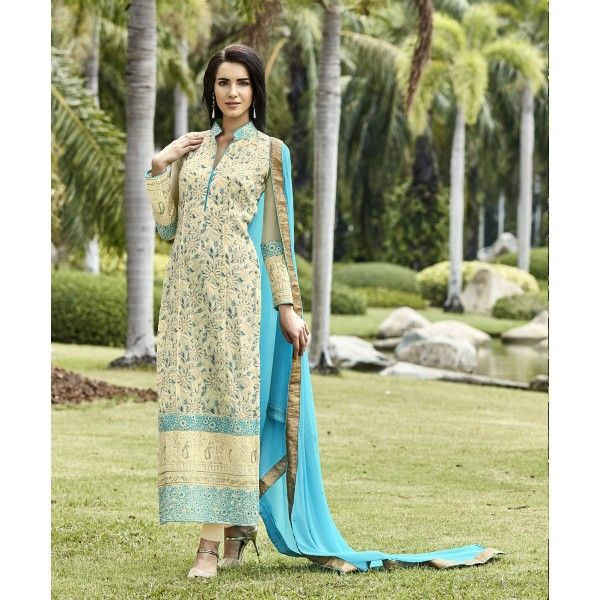 INDIAN RAG Pure Georgette Semi Stitched Dress Material