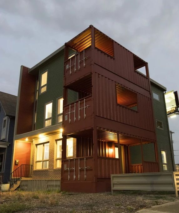 Detroit Container House Made With 9 Shipping Containers Usa In