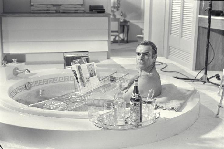 James bond bathtub scene