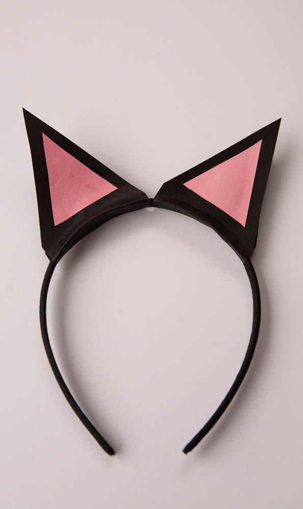 Cat Ear Headband - Nearly Crafty - Cat Party Craft - www.nearlycrafty.com