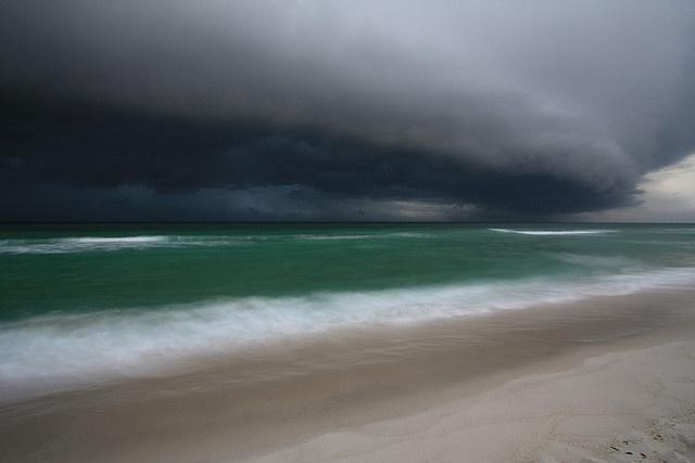 thunderstorm, gulf of mexico, santa rosa island, pensacola beach, escambia county, florida 2