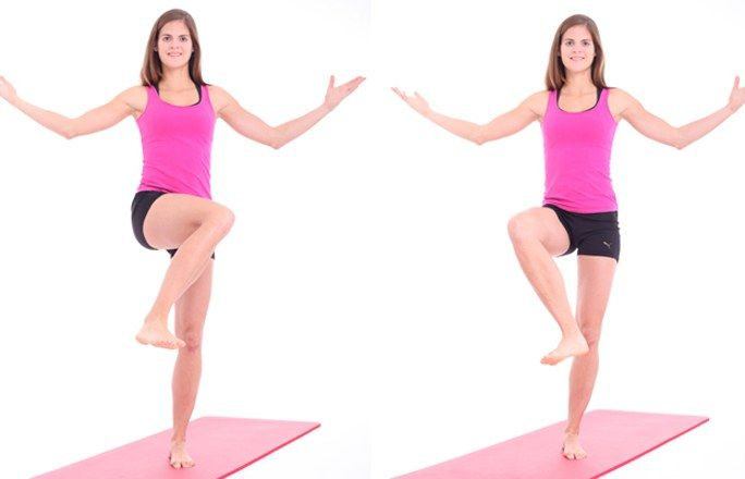 Übung 1: Die liegende Acht - Problemzone Beine? Die besten Übungen für schlanke Oberschenkel - gofeminin