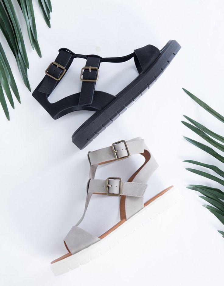 Alethea Caged Sandals - Buckled Leather Sandals - Strappy Leather Flatform Sandals – 2020AVE