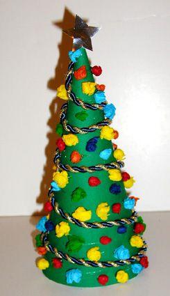 nápady na výrobu vánočních stromů z papíru