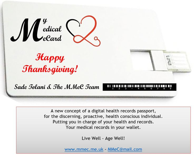 Happy Thanksgiving! — May peace reign worldwide.  🍂🍃🍂🍃🍂🍃🍂🍃🍂🍃  Take advantage of Thanksgiving and save 25% on Medical eCards.   Gift a friend or two.   Available on Amazon - Click on the link below.   Or drop us an email at MMec@Mail.com Live Well - Age Well!  Sadé Tolani &  The Medical eCard Team www.mmec.me.uk