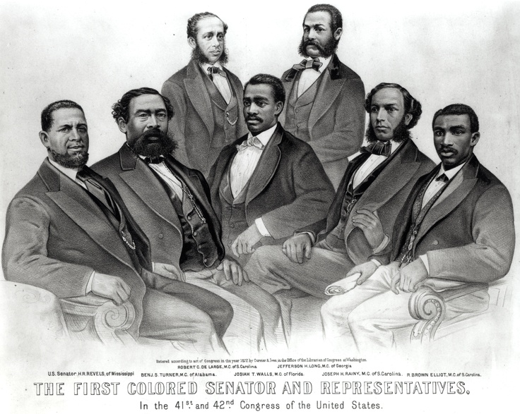 Hiram R. Revels, First Black Senator, And Representatives: Black History Photo Of The Day