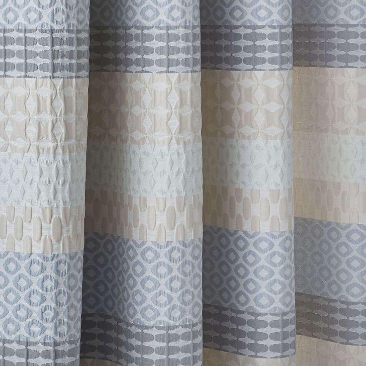 Elements Mason Jacquard Grey Blackout Eyelet Curtains | Dunelm