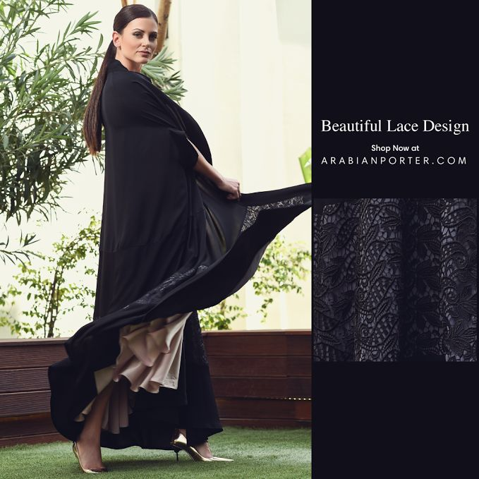 #Unique #black #cape #abaya Shop this now at Arabianporter.com #Onlineshop #worldwide #shipping based out of #Qatar #doha #Arabian #tradition #Dubai #Sharjah #abudhabi #kuwait #bahrain #Saudiarabia #Riyadh #Oman