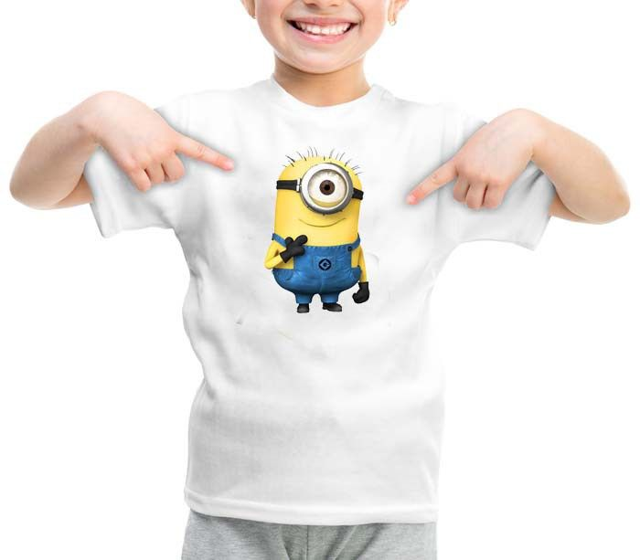 Minion clip graphic printed youth toddler tshirt