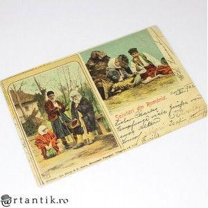 carte postala - anul 1902 -Salutari din Romania - circulata international