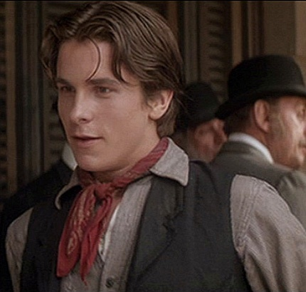 Newsies - Jack Kelly/ Franis Sullivan - Christan Bale...This is the movie where I feel in love with him!