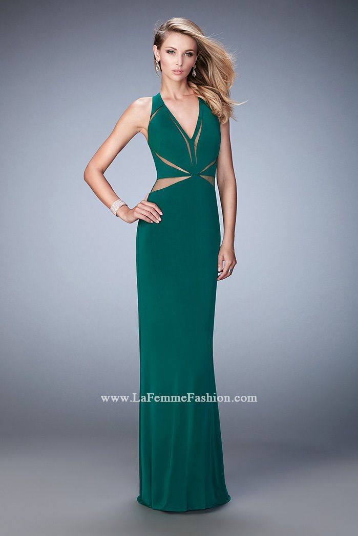 You are sure to feel glamorous and beautiful in La Femme Style #22276 available at Whatchamacallit Boutique