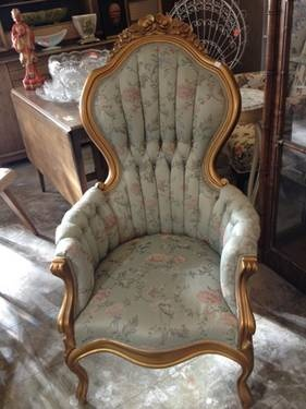 Victorian Parlor Style High Back Chair With Carved Frame Was $375 On Sale  ...