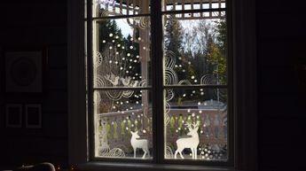 Det är mörkt ute. Fönstren gapar som svarta hål. Dags att plocka fram fönstertuschen och skapa fantasifulla mönster som piggar upp!