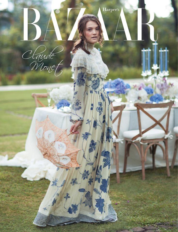 as editor fashion, styled for Harper's Bazaar Wedding Ideas (Art Inspiration: Claude Monet)