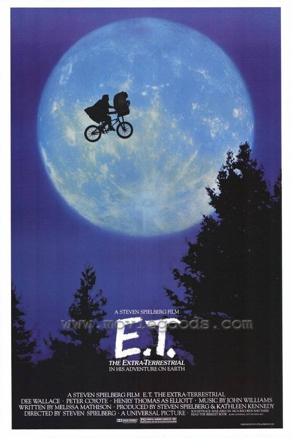 E.T. -- obsessed with this movie as a kid haha