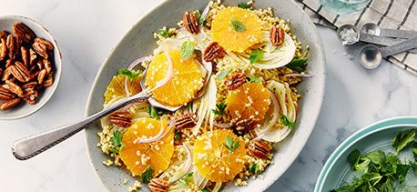 Cook with Campbells. Shaved Fennel, Orange, Candied Pecans and Toasted Millet