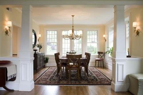Perfect way to knock out the walls and make the entrance into the dining room from the living room.