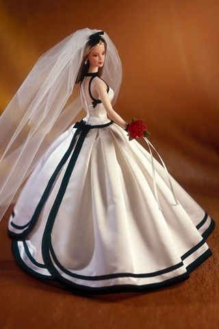 1998 - Barbie by Vera Wang as if this is on Pinterest. All While I was little I said I would have this wedding dress just like the Barbie doll!! I've only seen it once before.